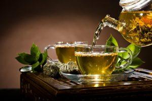 دمنوش چای سبز با زنجبیل برای لاغری