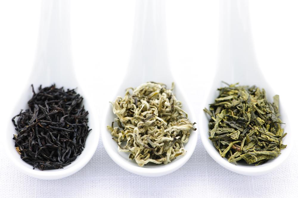 چای سبز، چای سفید و چای سیاه