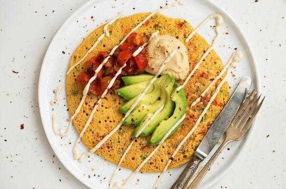 صبحانه پروتئینی پنکیک نخود جانبو