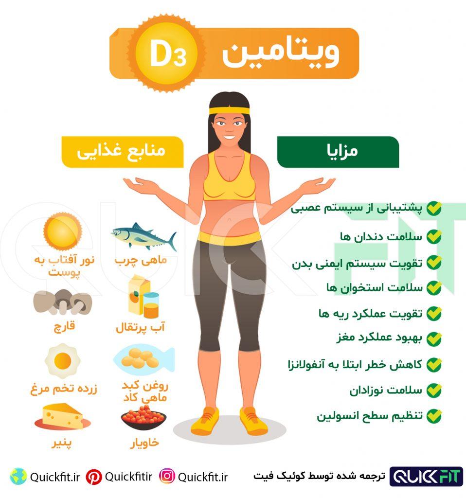 فواید ویتامین D3