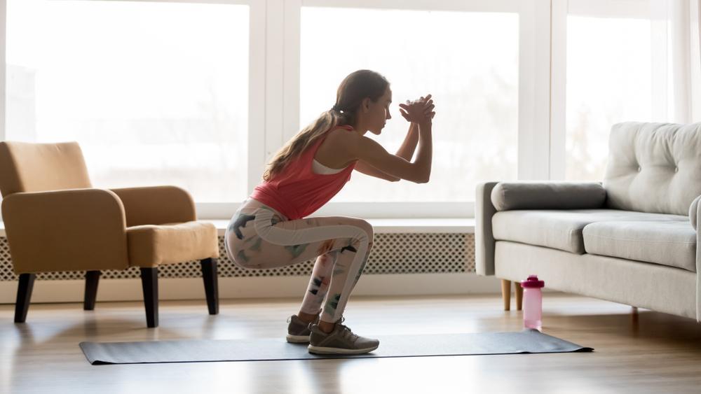 تمرینات ورزش در خانه